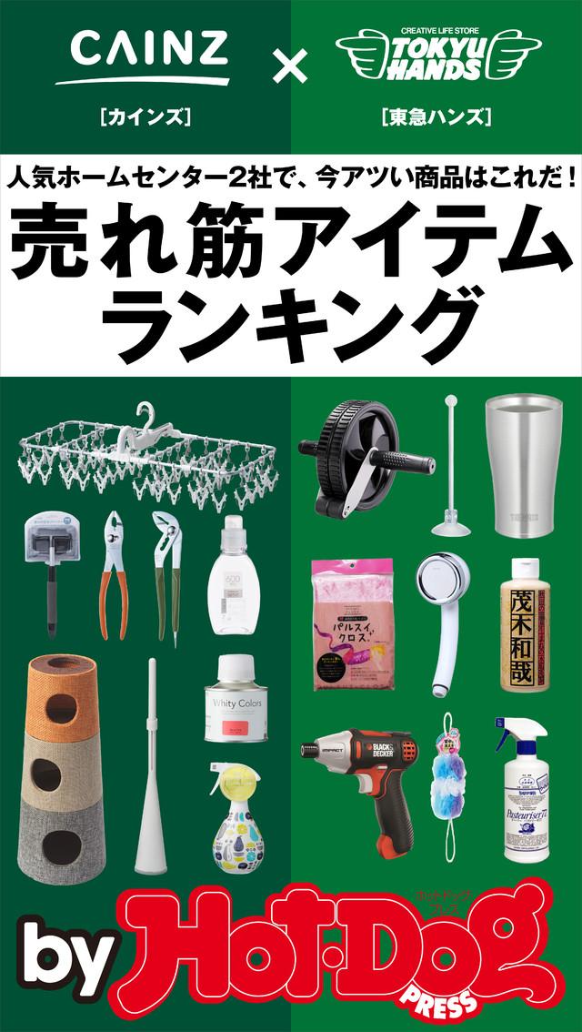 by Hot-Dog PRESS 人気ホームセンター2社の今アツい商品! 売れ筋アイテムRANKING!